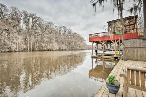 Waterfront Karnack Home with Deck  Boathouse